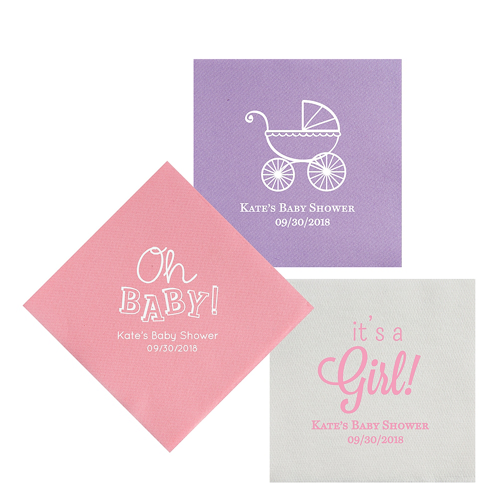 Personalized Baby Shower Premium Lunch Napkins Image #1