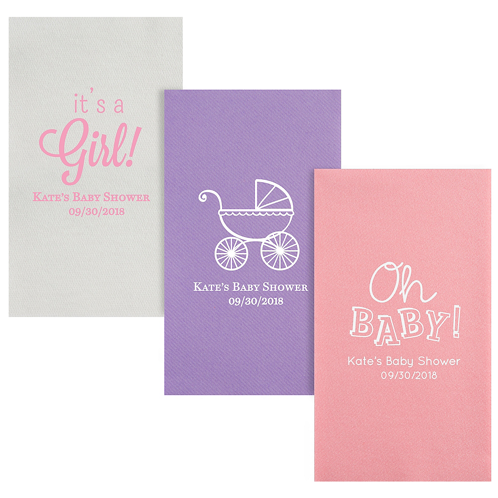 Personalized Baby Shower Premium Guest Towels Image #1