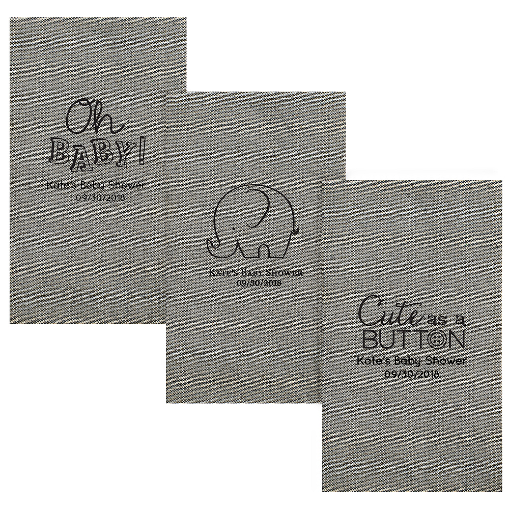 Personalized Baby Shower Tweed Print Guest Towels Image #1