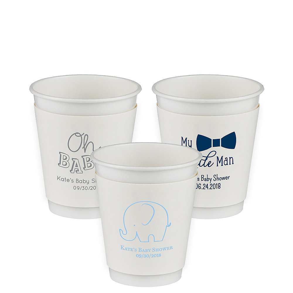 Personalized Baby Shower Insulated Paper Cups 12oz Image #1