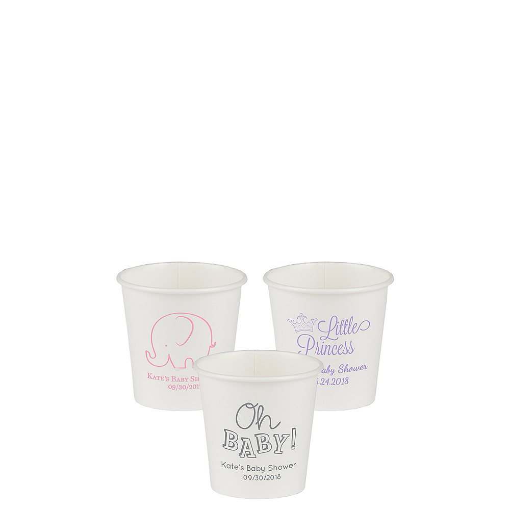 Personalized Baby Shower Paper Cups 4oz Image #1