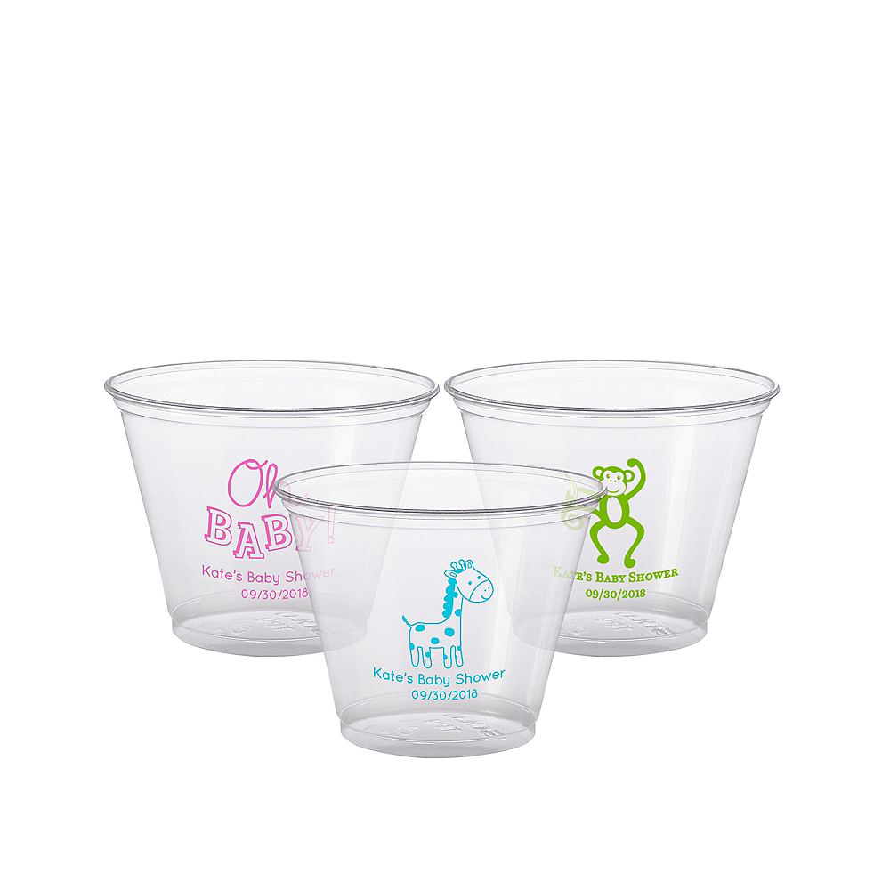 Personalized Baby Shower Plastic Party Cups 9oz Image #1
