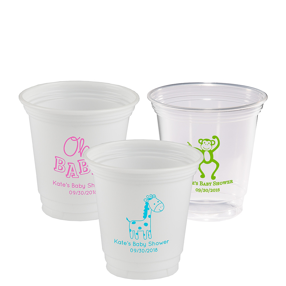 Personalized Baby Shower Plastic Party Cups 12oz Image #1