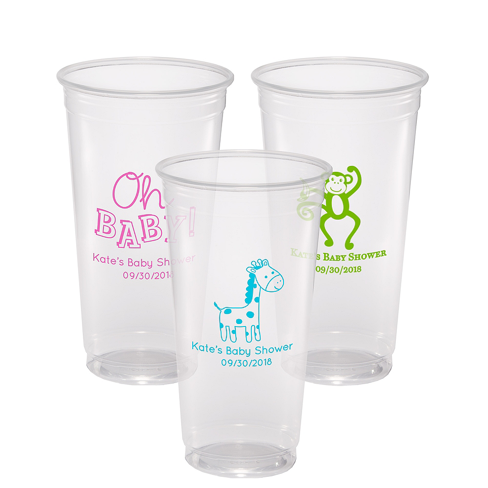 Personalized Baby Shower Plastic Party Cups 24oz Image #1