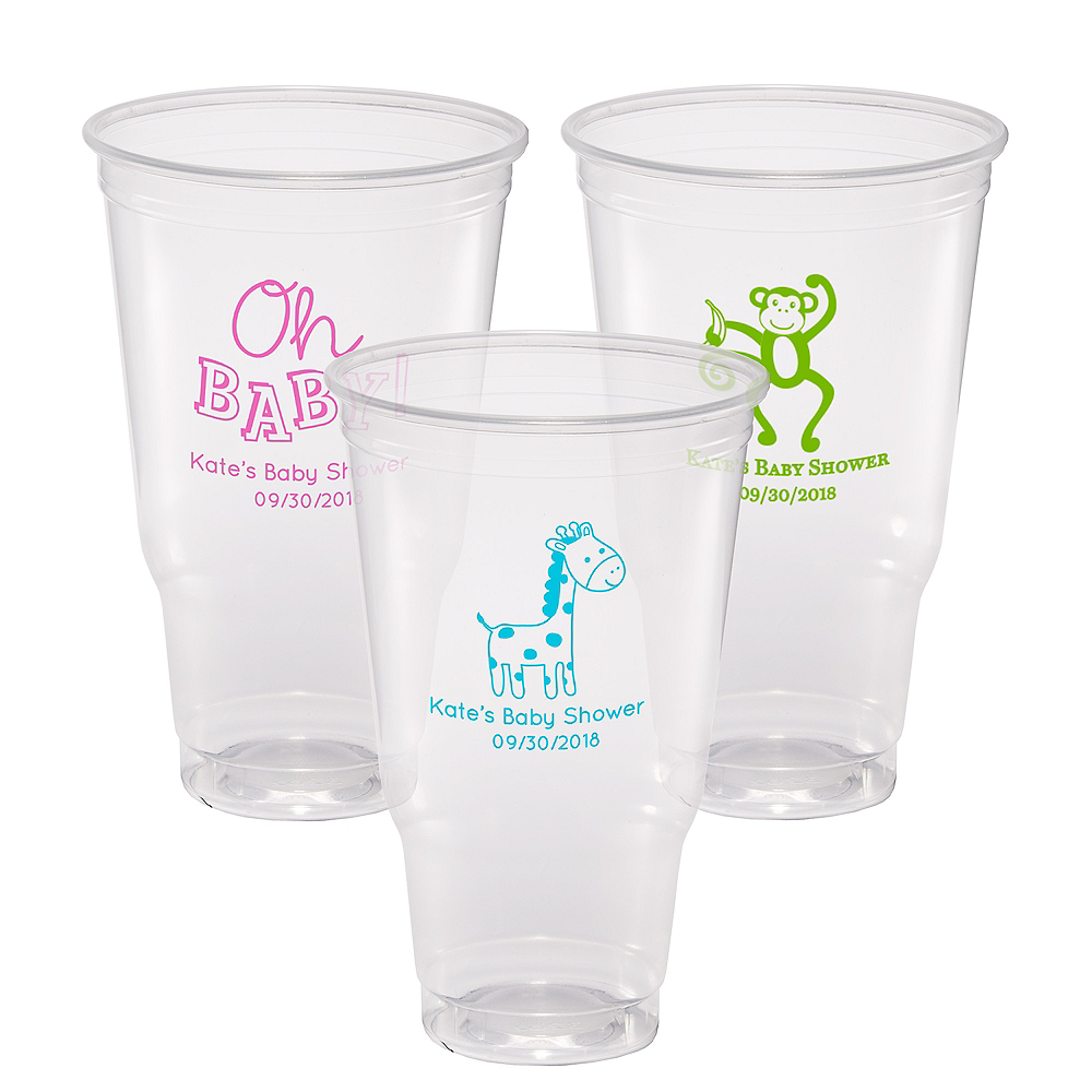 Personalized Baby Shower Plastic Party Cups 32oz Image #1