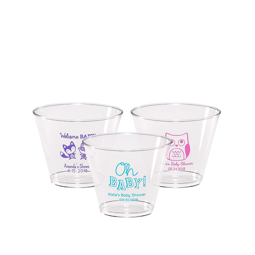 Personalized Baby Shower Hard Plastic Cups 9oz Image #1