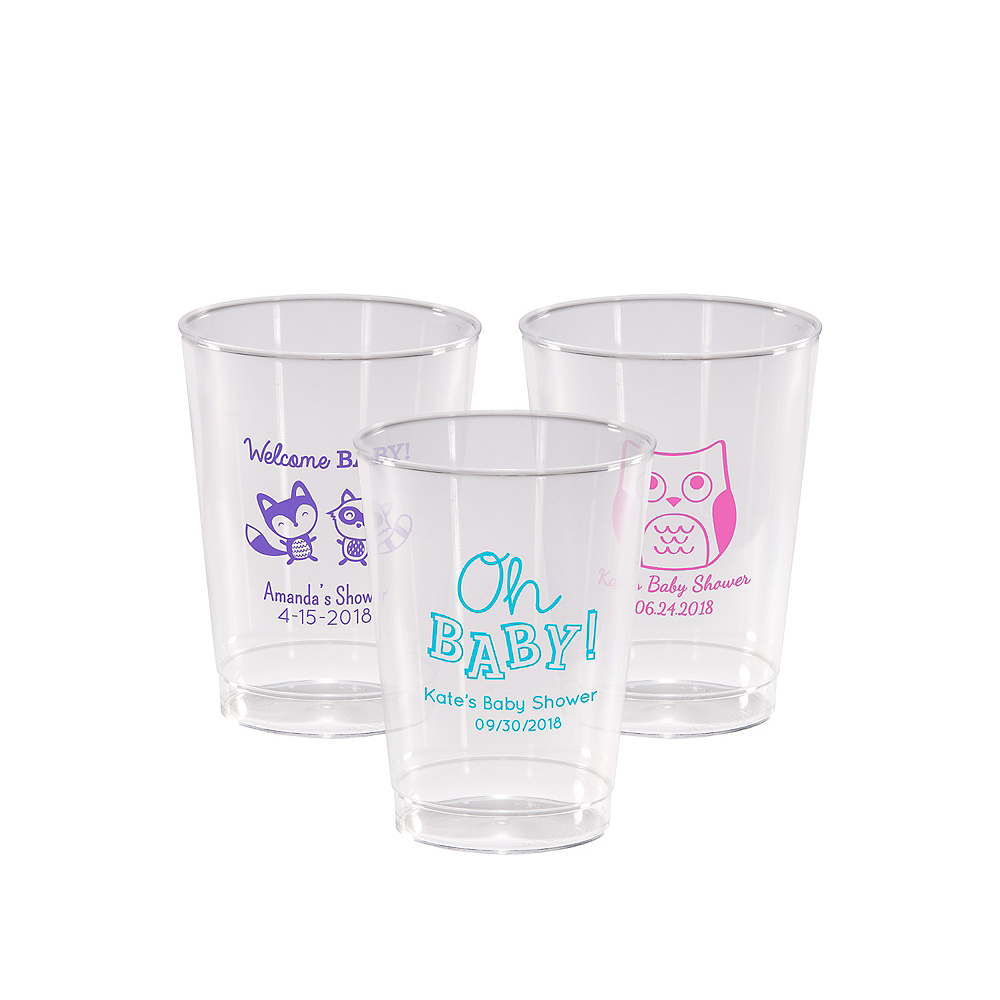 Personalized Baby Shower Hard Plastic Cups 10oz Image #1