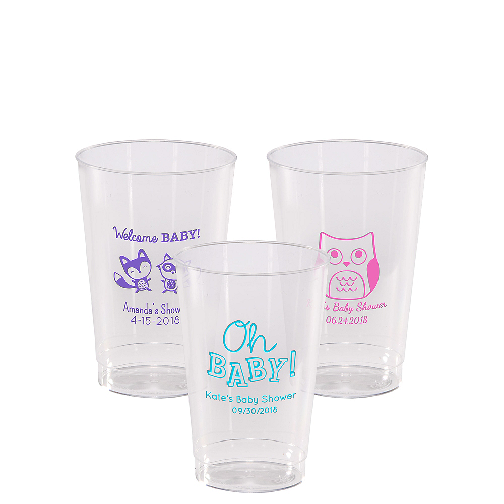 Personalized Baby Shower Hard Plastic Cups 12oz Image #1