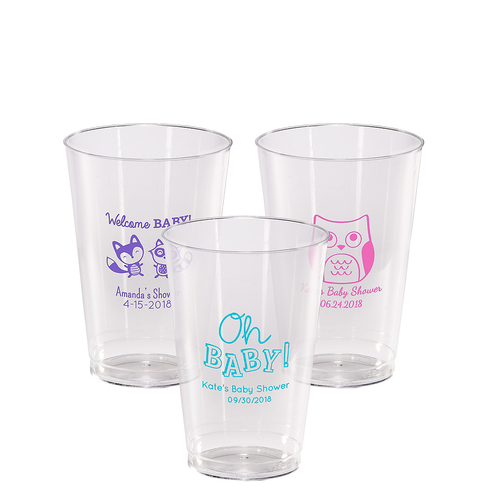 Personalized Baby Shower Hard Plastic Cups 14oz Image #1
