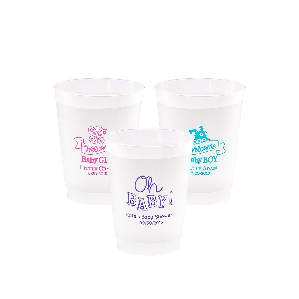 Personalized Baby Shower Frosted Plastic Shatterproof Cups 10oz Image #1