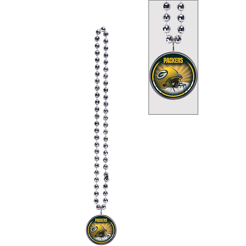 Green Bay Packers Bottle Opener Bead Necklace Image #1