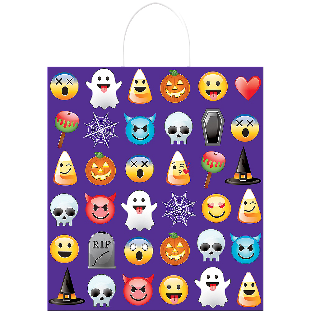 Smiley Trick-or-Treat Bag Image #1