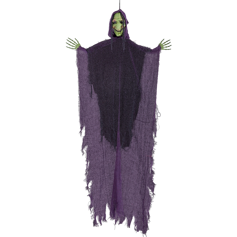 Giant Green Witch Decoration Image #1