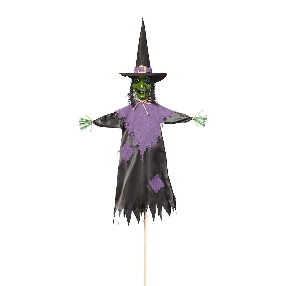 Giant Witch Scarecrow Yard Stake Image #1