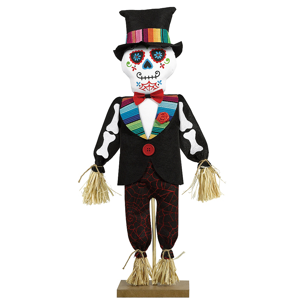 Standing Day of the Dead Scarecrow Decoration Image #1