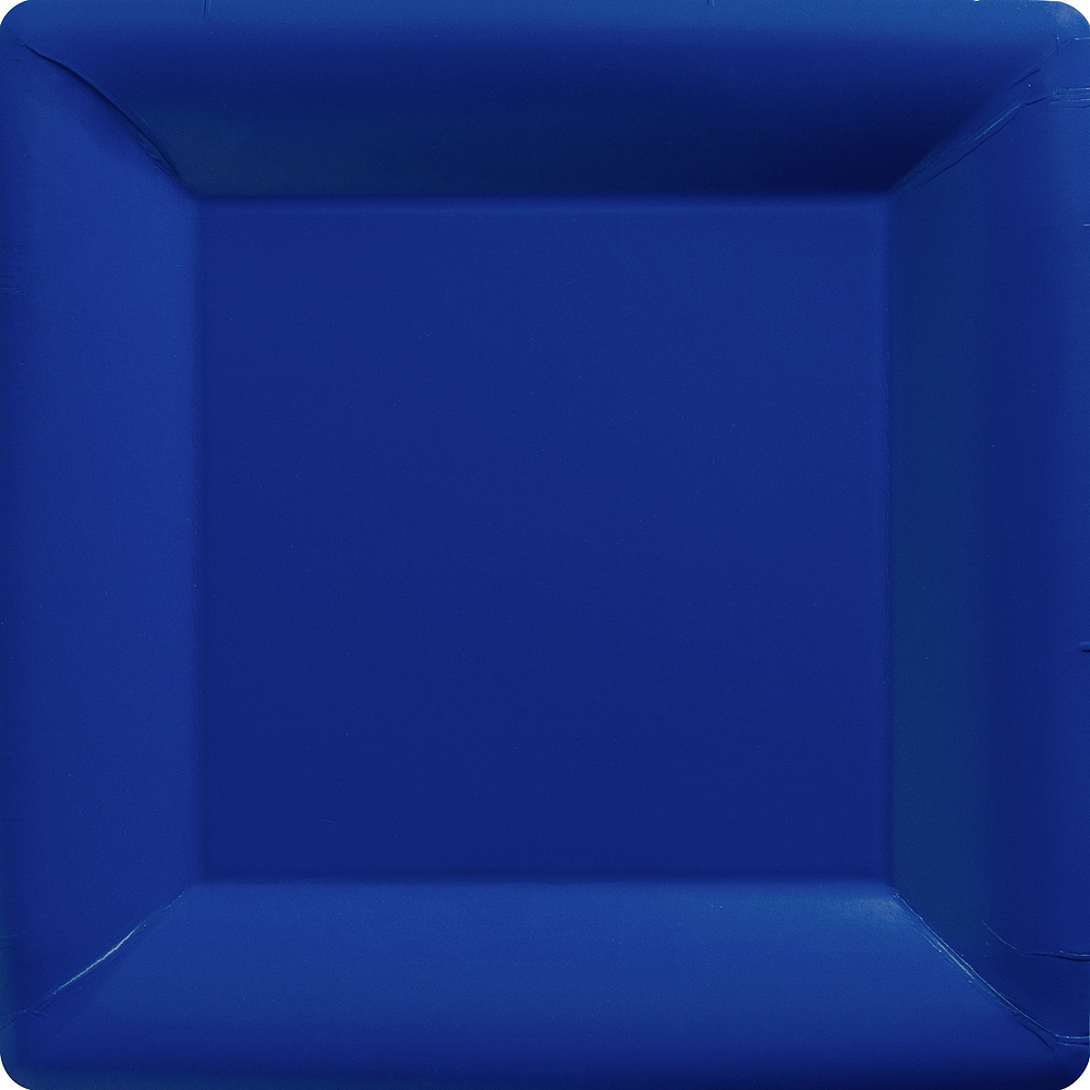 Big Party Pack Royal Blue Paper Square Dinner Plates 50ct Image #1