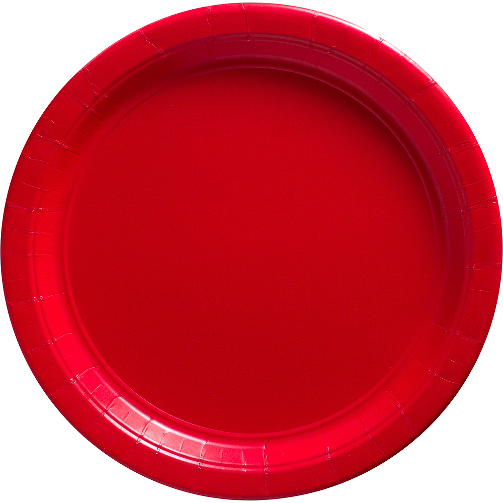 Red Paper Dinner Plates, 10.5in, 50ct Image #1