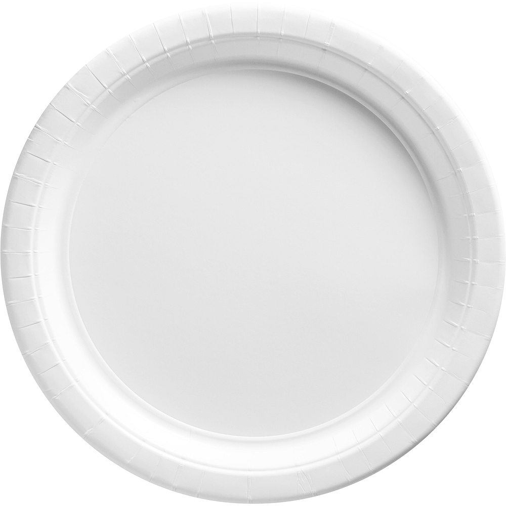 White Paper Dinner Plates, 10.5in, 50ct Image #1