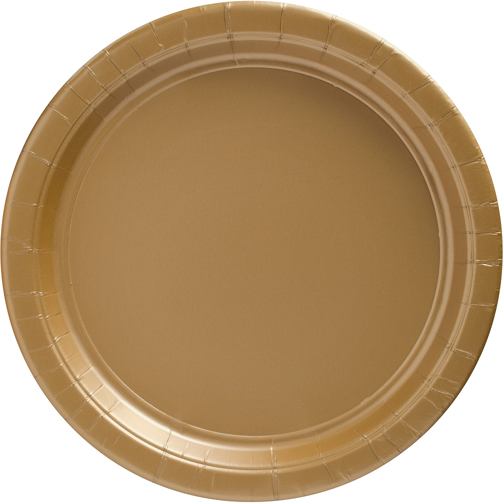 Gold Paper Dinner Plates, 10.5in, 50ct Image #1
