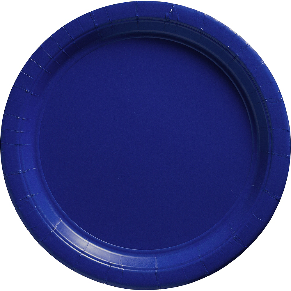 Big Party Pack Royal Blue Paper Dinner Plates 50ct Image #1