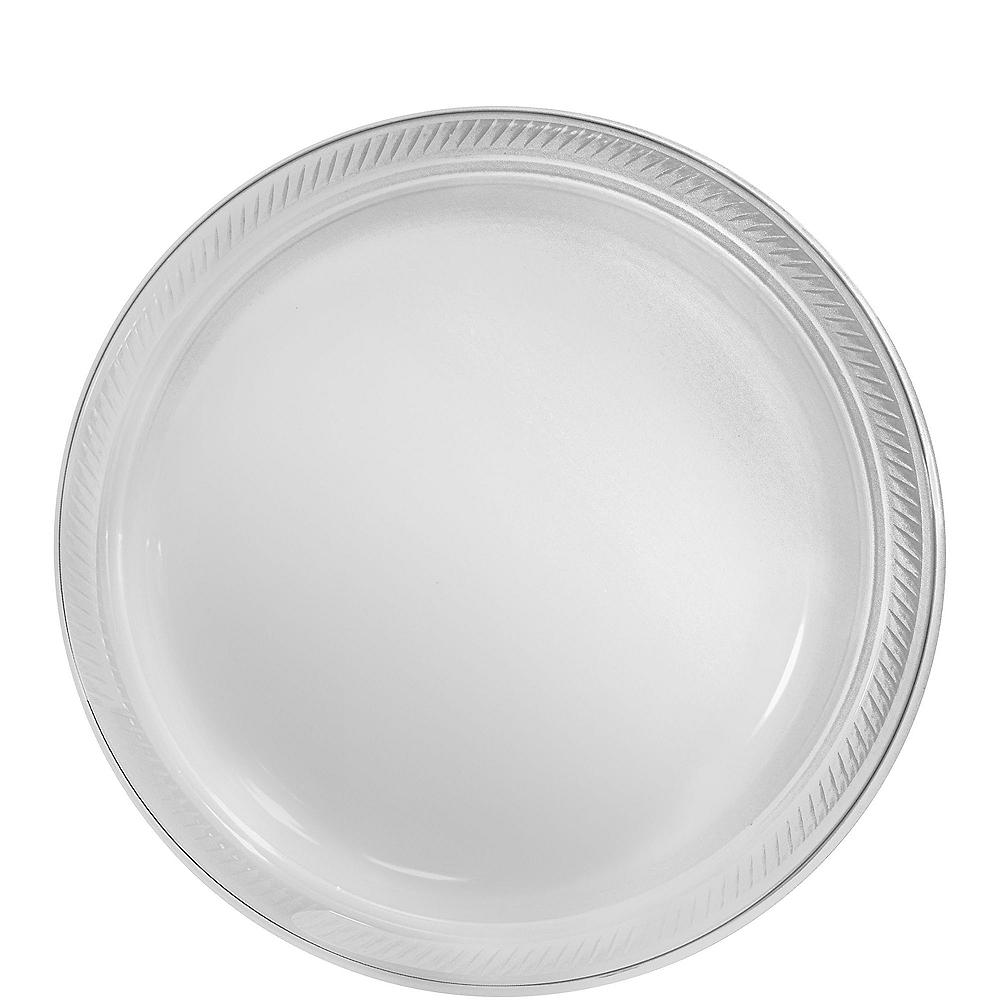Big Party Pack CLEAR Plastic Lunch Plates 50ct Image #1