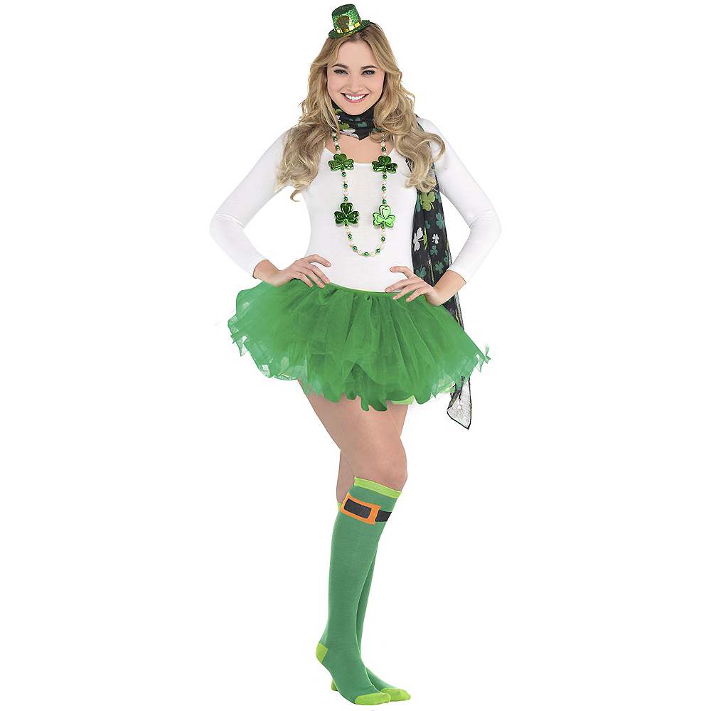 Nav Item for Adult Shamrock St. Patrick's Day Costume Image #1