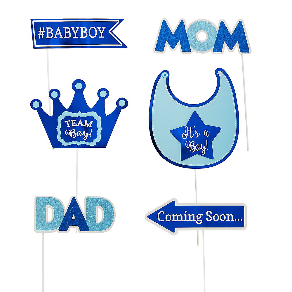 Boys Baby Shower Photo Booth Props 21ct Image #2