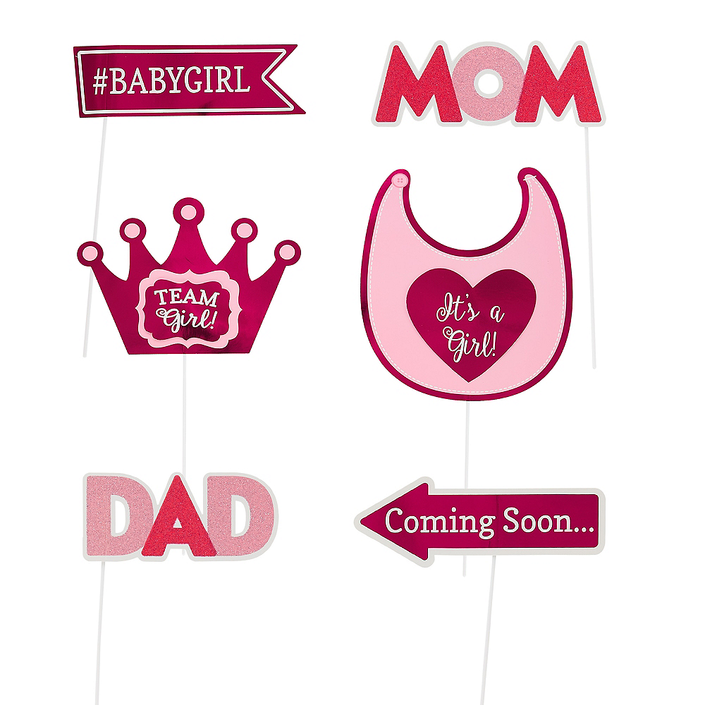 Girls Baby Shower Photo Booth Props 21ct Image #2