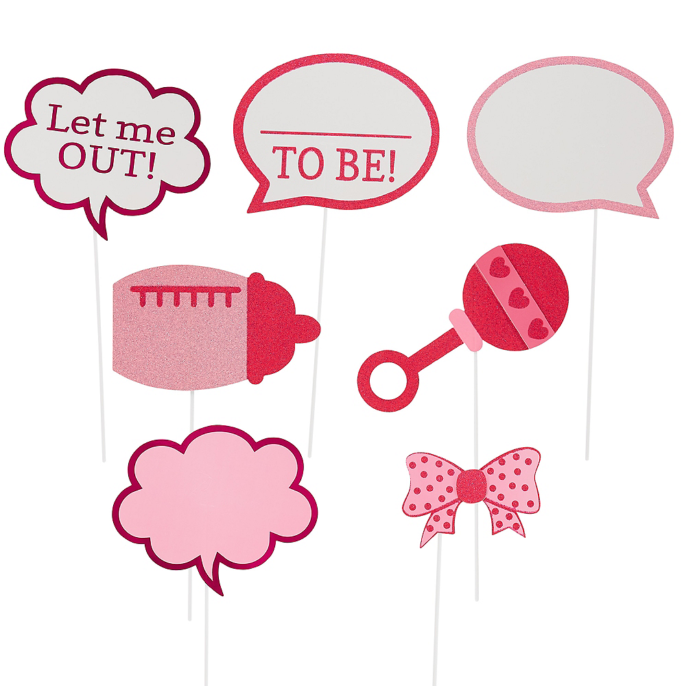 Girls Baby Shower Photo Booth Props 21ct Image #3
