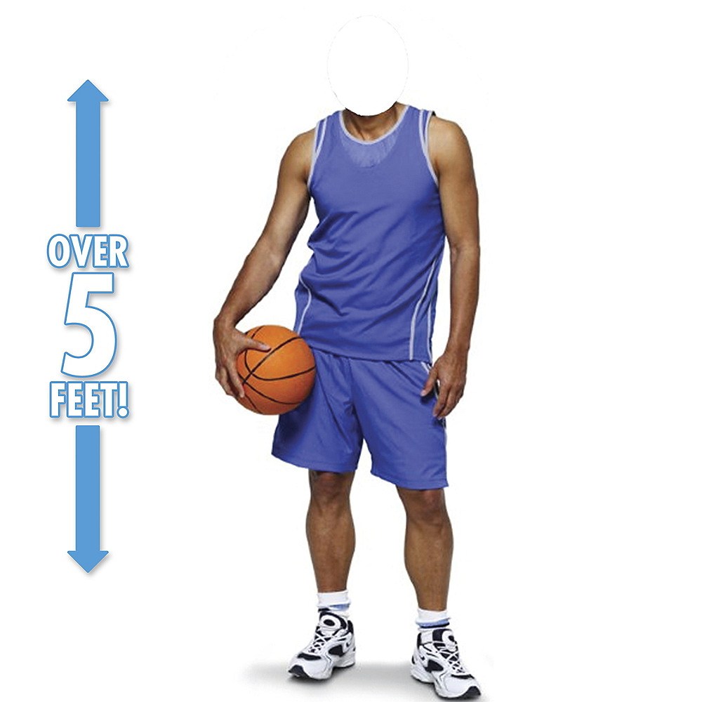 Nav Item for Basketball Player Life-Size Photo Cardboard Cutout Image #1