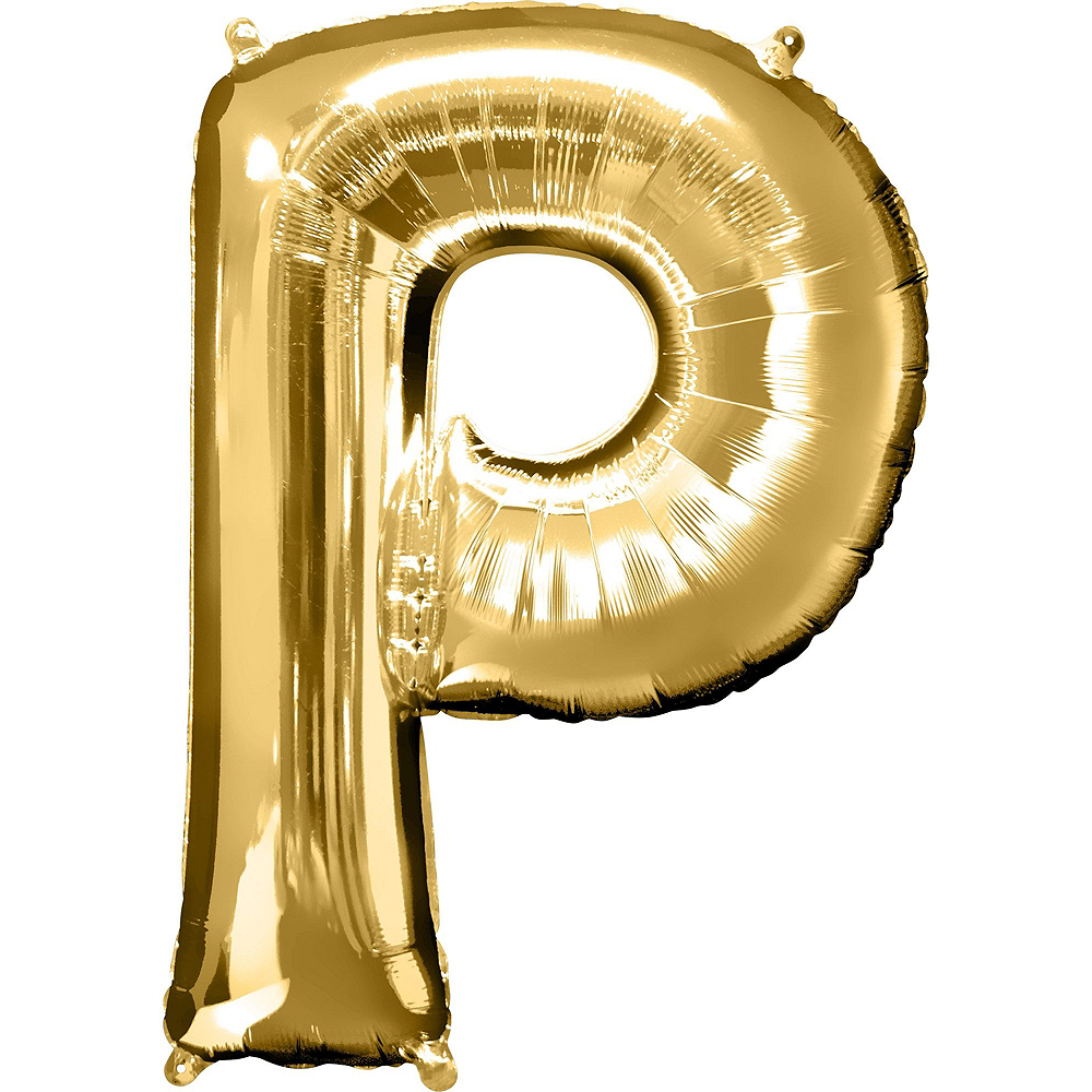 34in Gold Pop Letter Balloon Kit 3pc Image #3