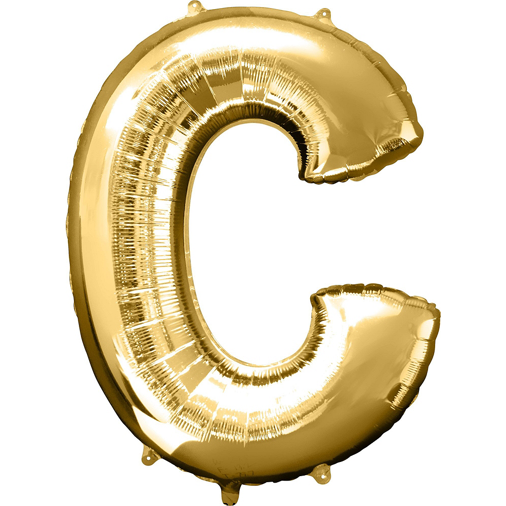 34in Gold Clink Letter Balloon Kit 5pc Image #2