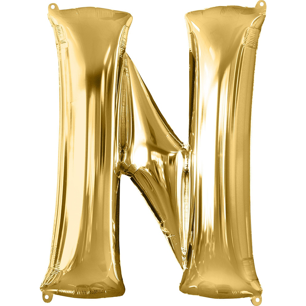 Nav Item for 34in Gold Clink Letter Balloon Kit 5pc Image #6