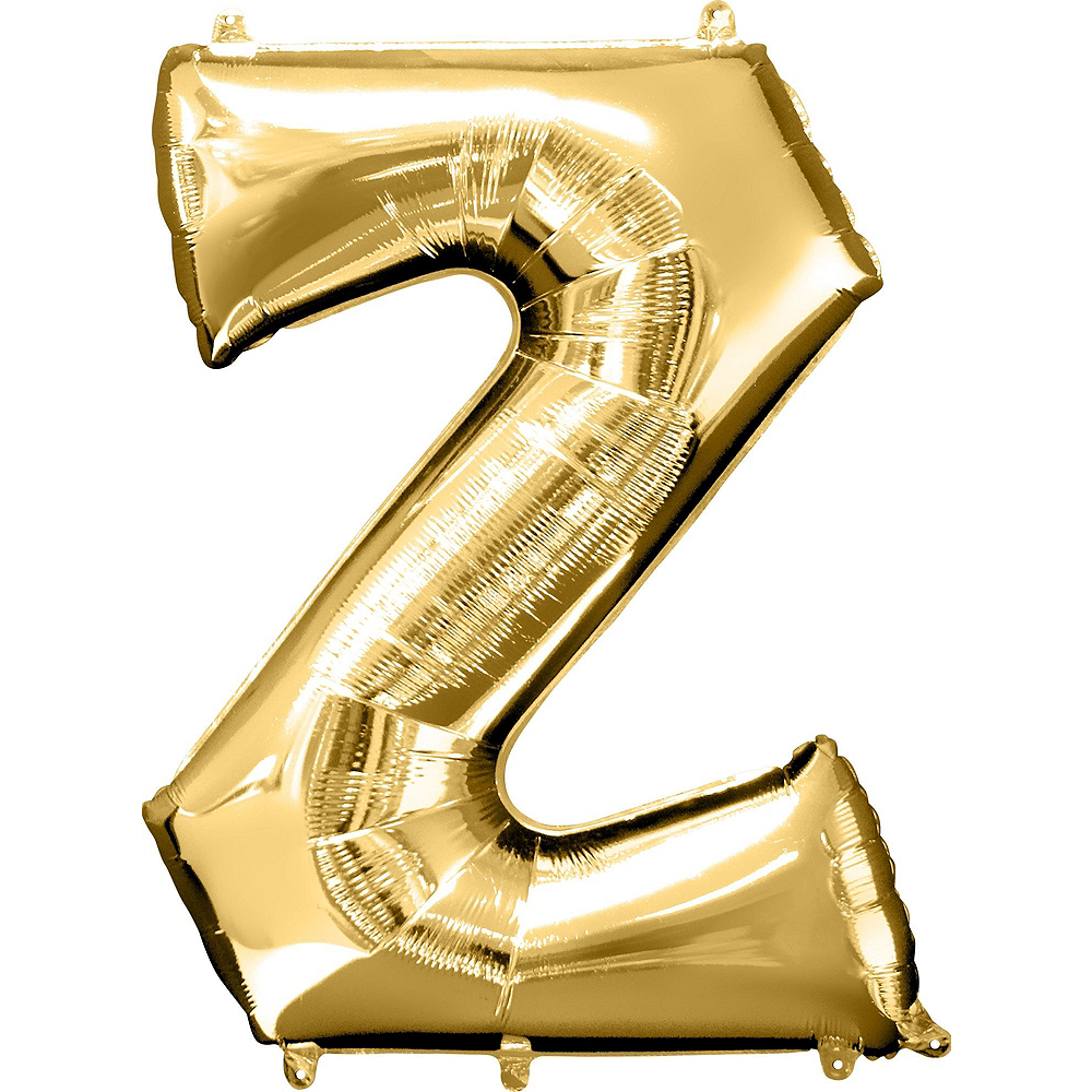 34in Gold Fizz Letter Balloon Kit 4pc Image #4