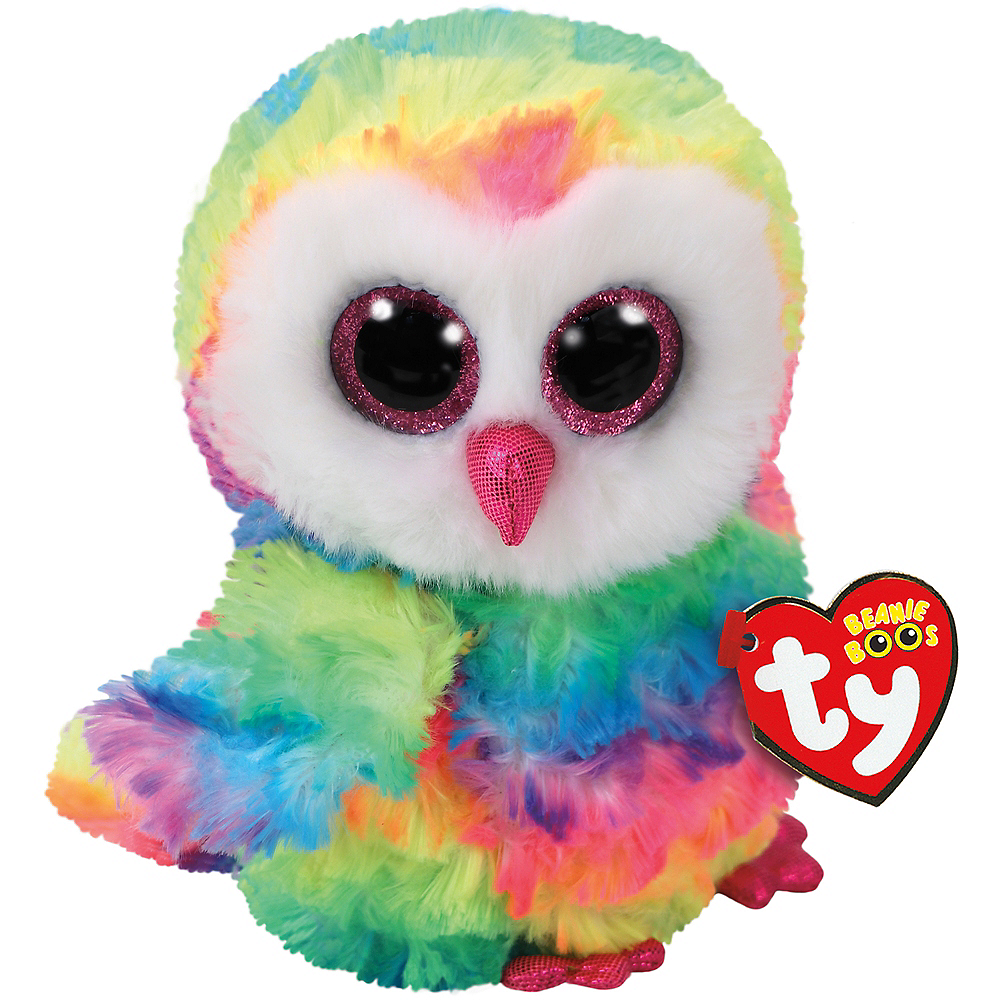Nav Item for Owen Beanie Boo Owl Plush Image #1