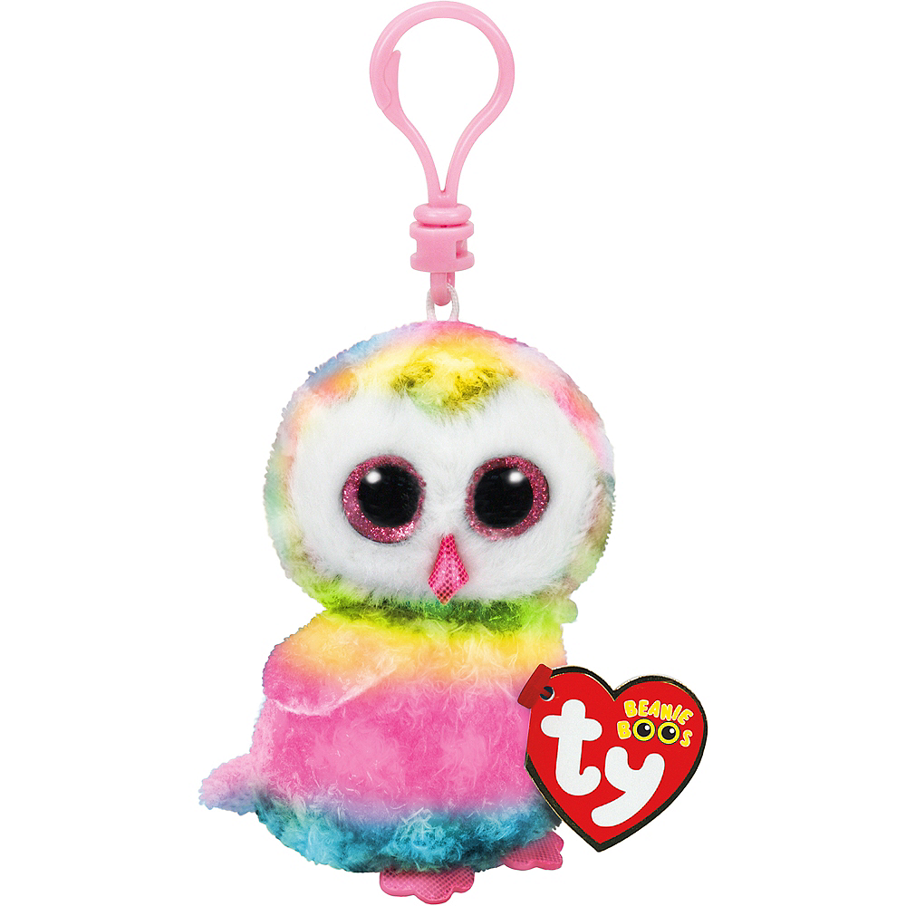 Clip-On Owen Beanie Boo Owl Plush Image #1