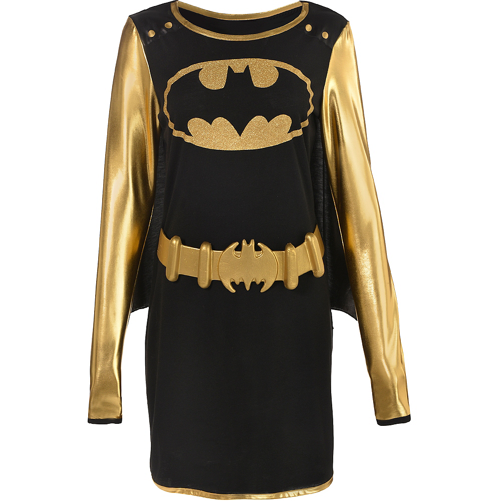 Adult Batgirl Long-Sleeve Dress - Batman Image #2