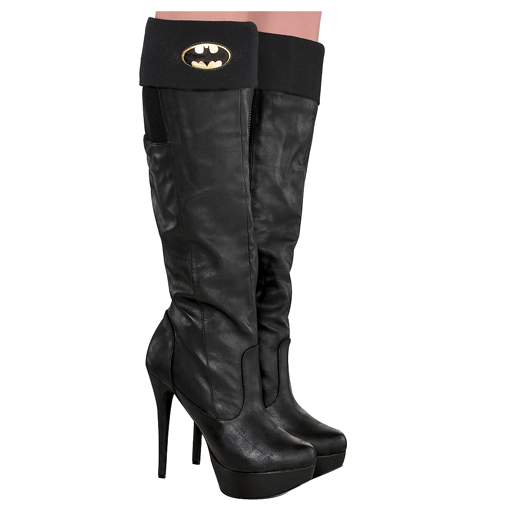 Adult Batgirl Boot Covers - Batman Image #1