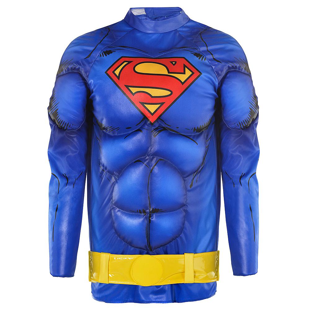 Child Blue Superman Muscle Costume Accessory Kit 2pc Image #1