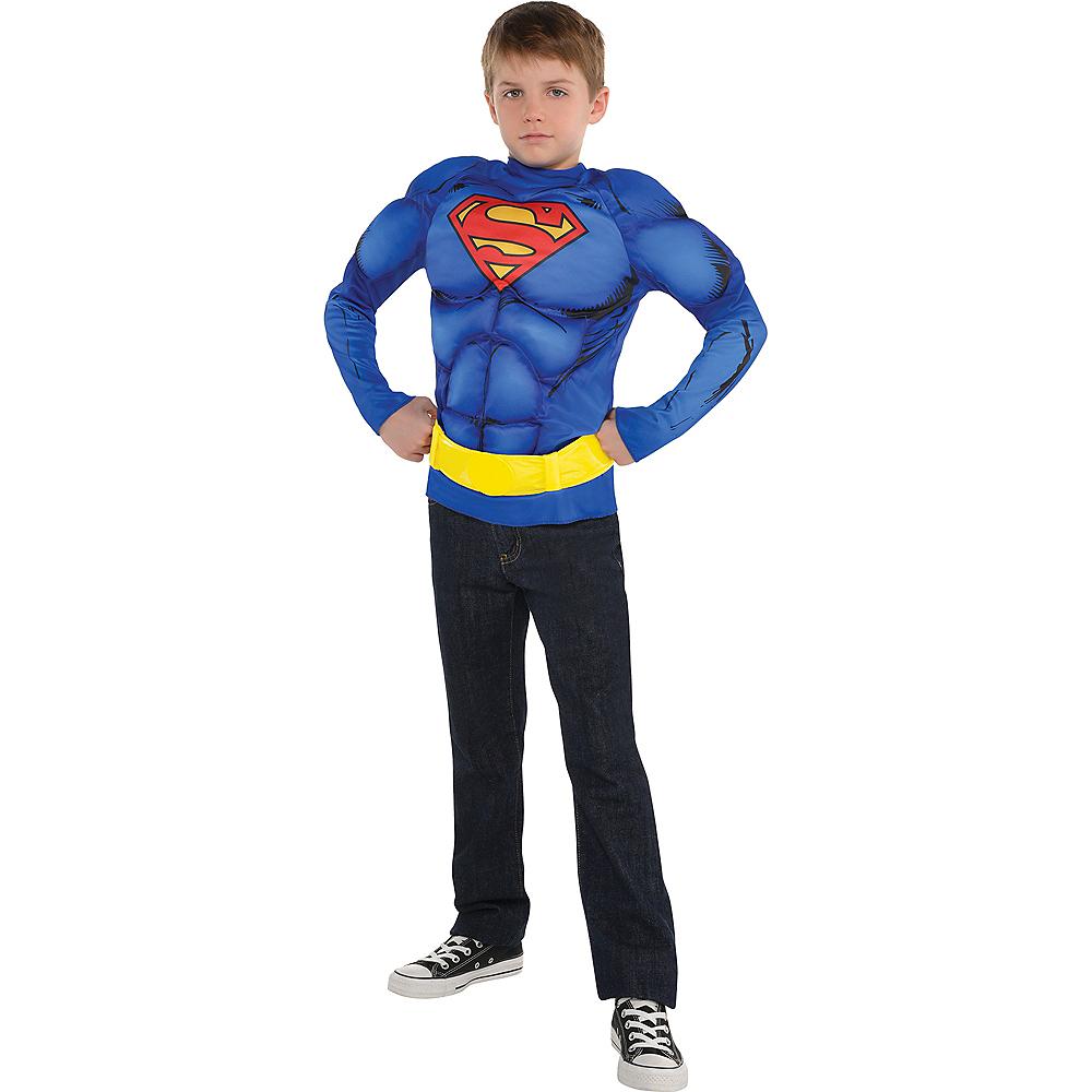 Child Blue Superman Muscle Costume Accessory Kit 2pc Image #2