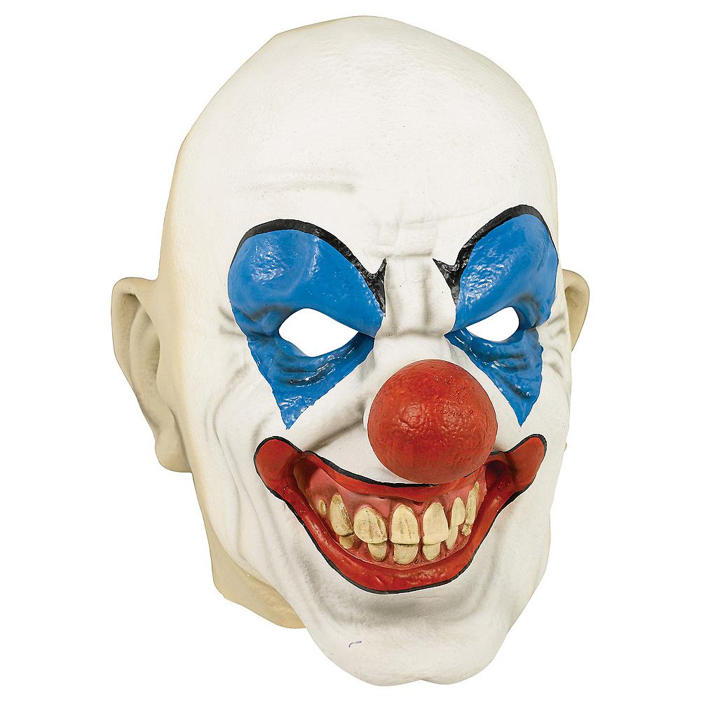 Adult Bald Clown Mask Image #1