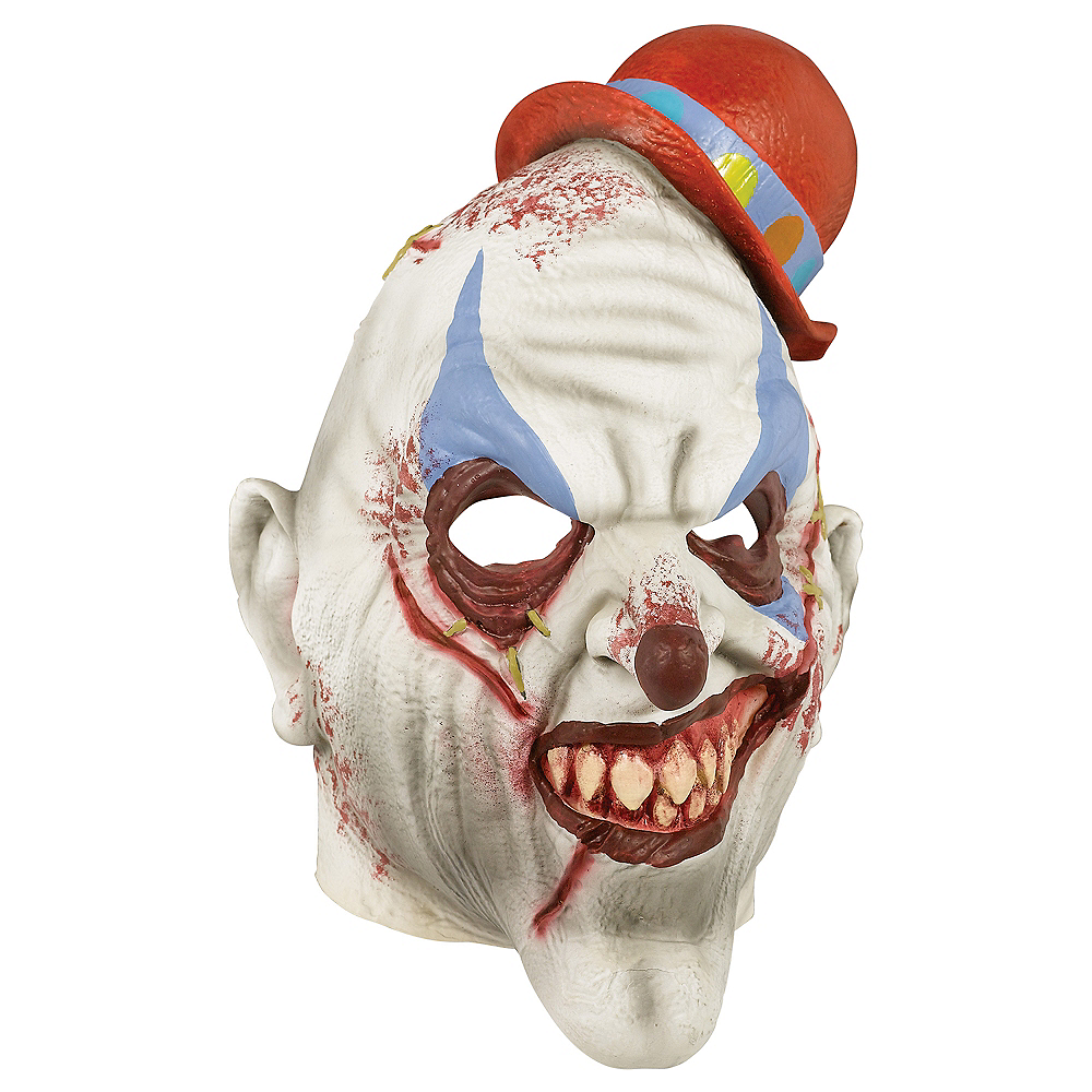 Adult Bloody Clown Mask Image #1