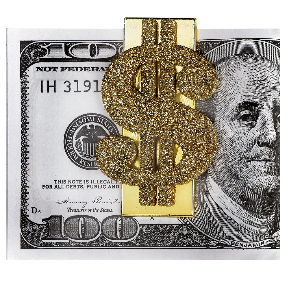 Wad of Cash with Money Clip Image #1