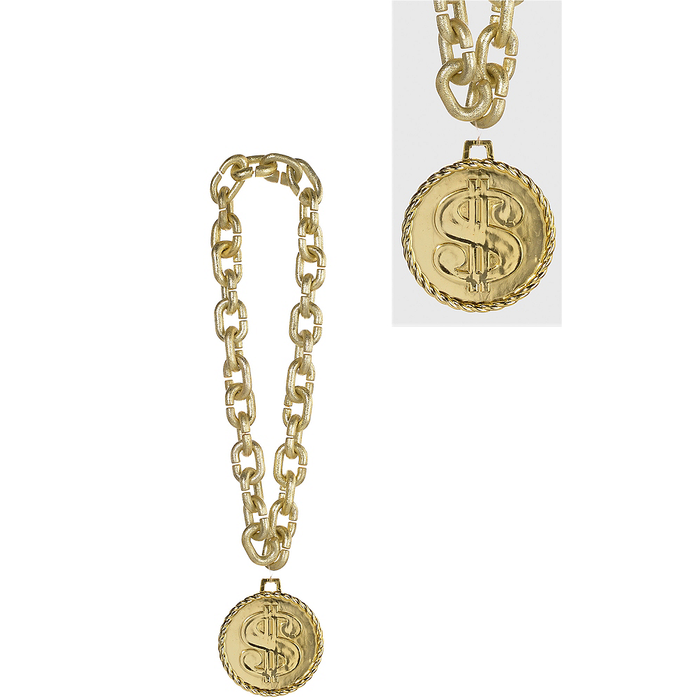 Gold Dollar Sign Chain Image #1