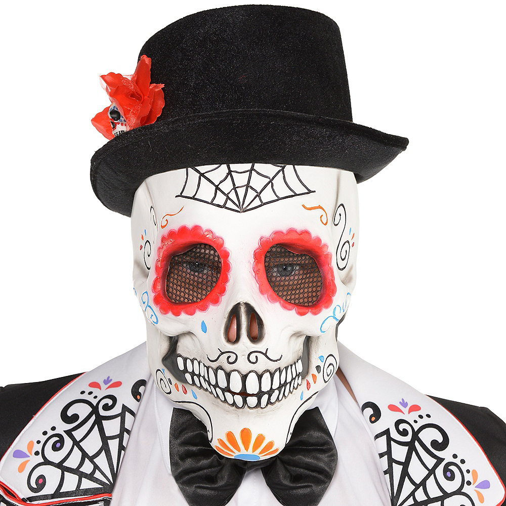 adult day of the dead sugar skull mask image 2