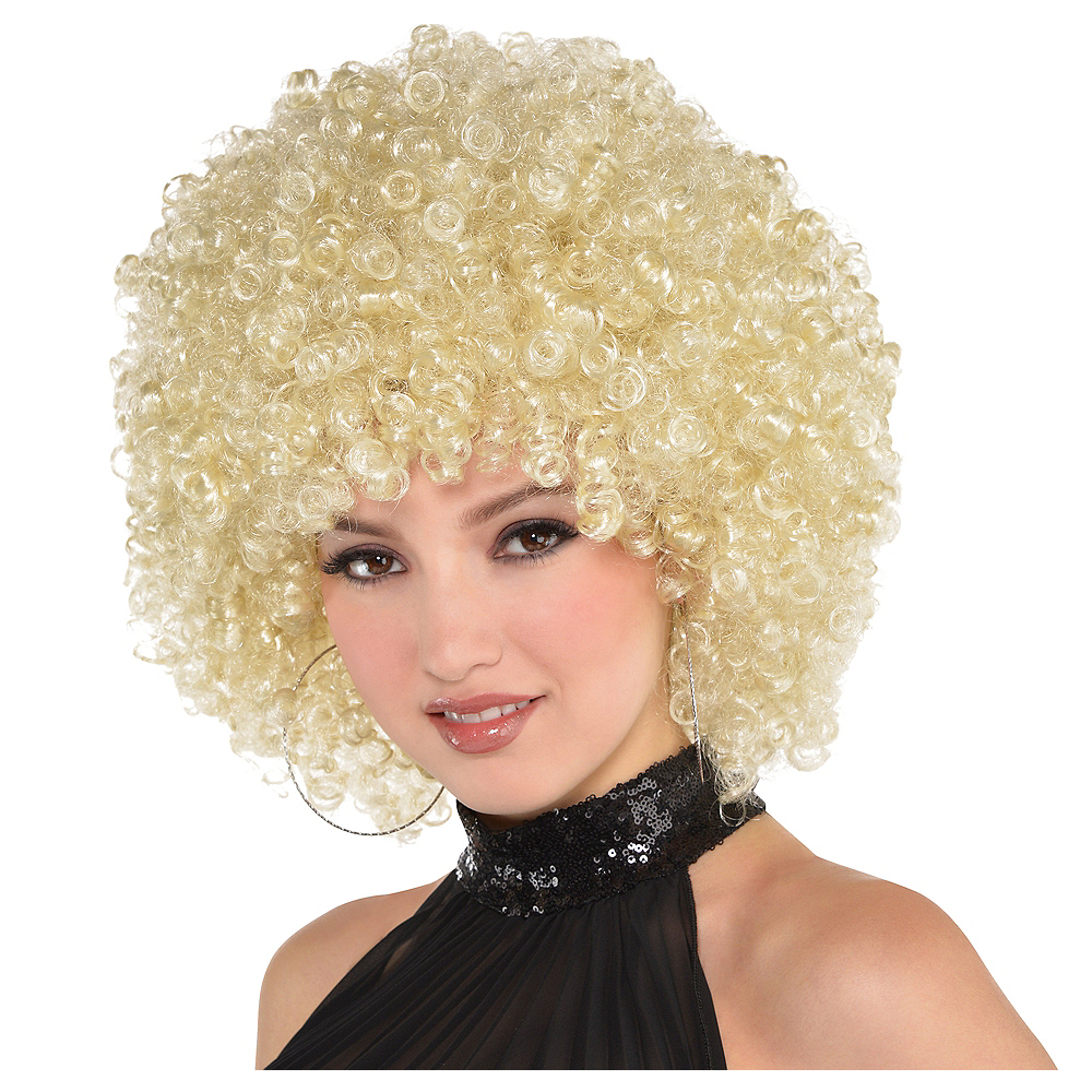 Adult Blonde Afro Wig Image #1