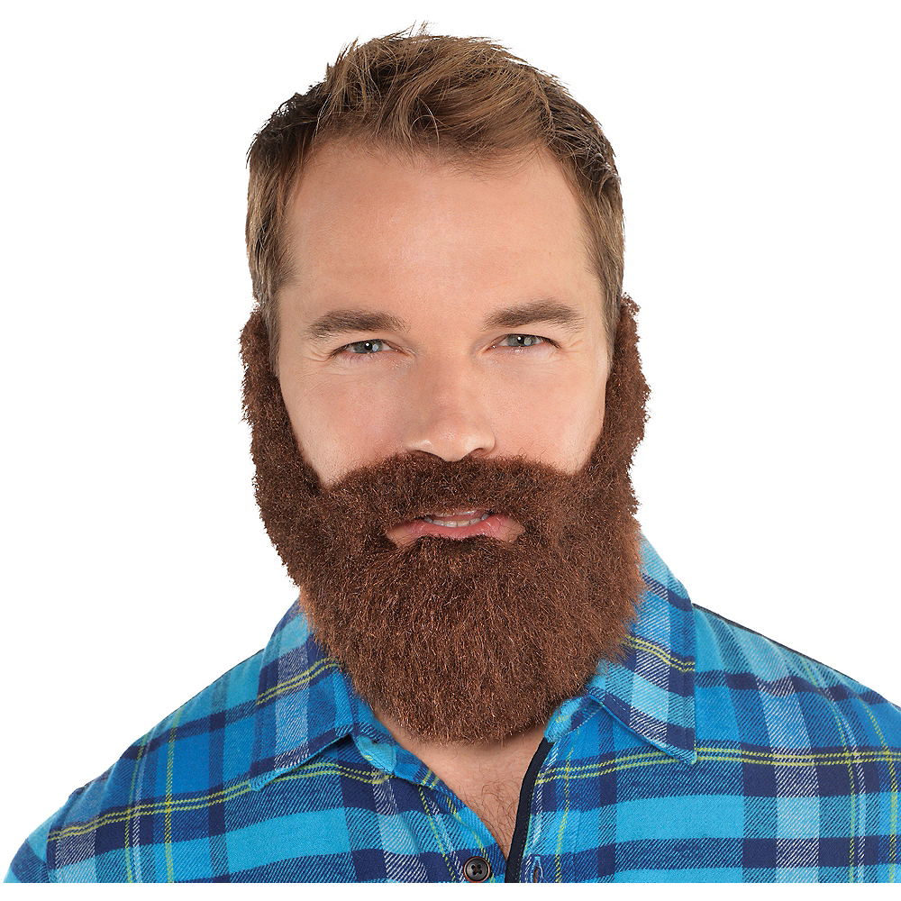 Brown Lumberjack Facial Hair Set Image #1