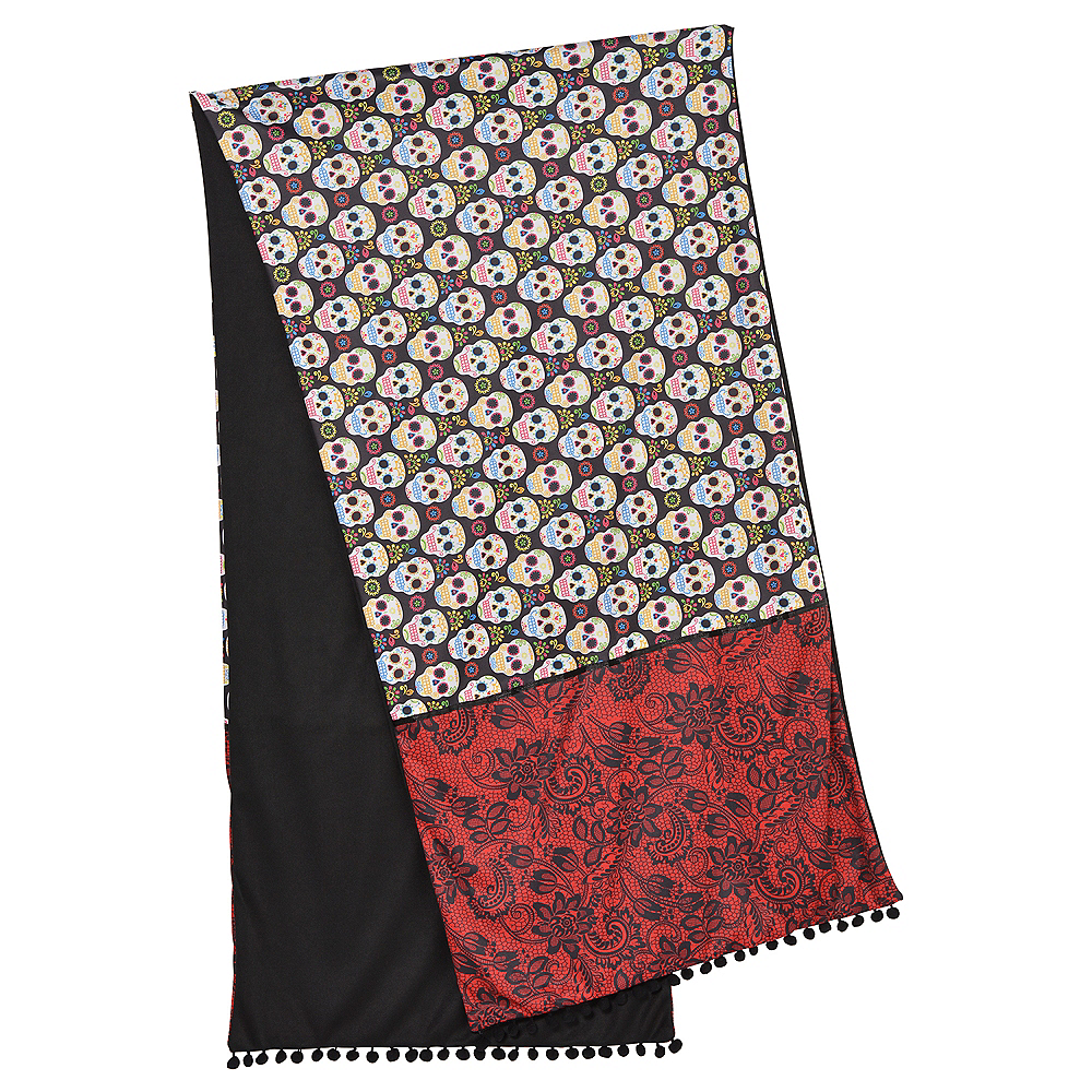 Adult Day of the Dead Shawl Image #1
