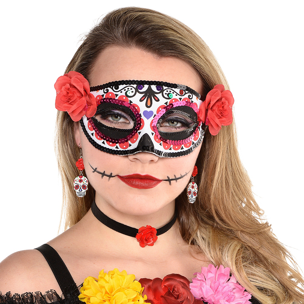 Day of the Dead Earrings with Choker Image #2
