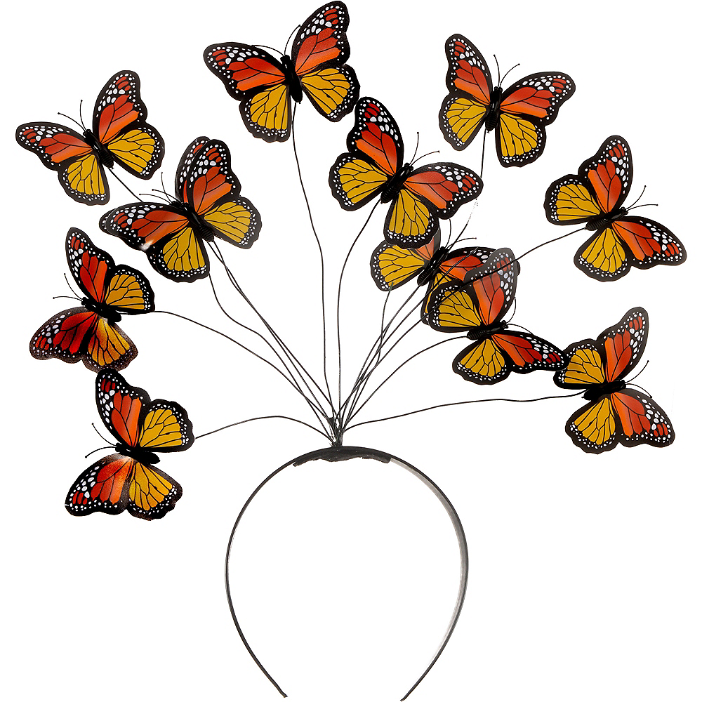 Nav Item for Adult Monarch Butterfly Headband Image #2